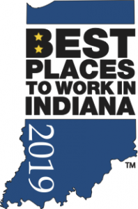 best places to work in indiana 2019 blue logo
