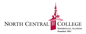 North Central College logo with red tower