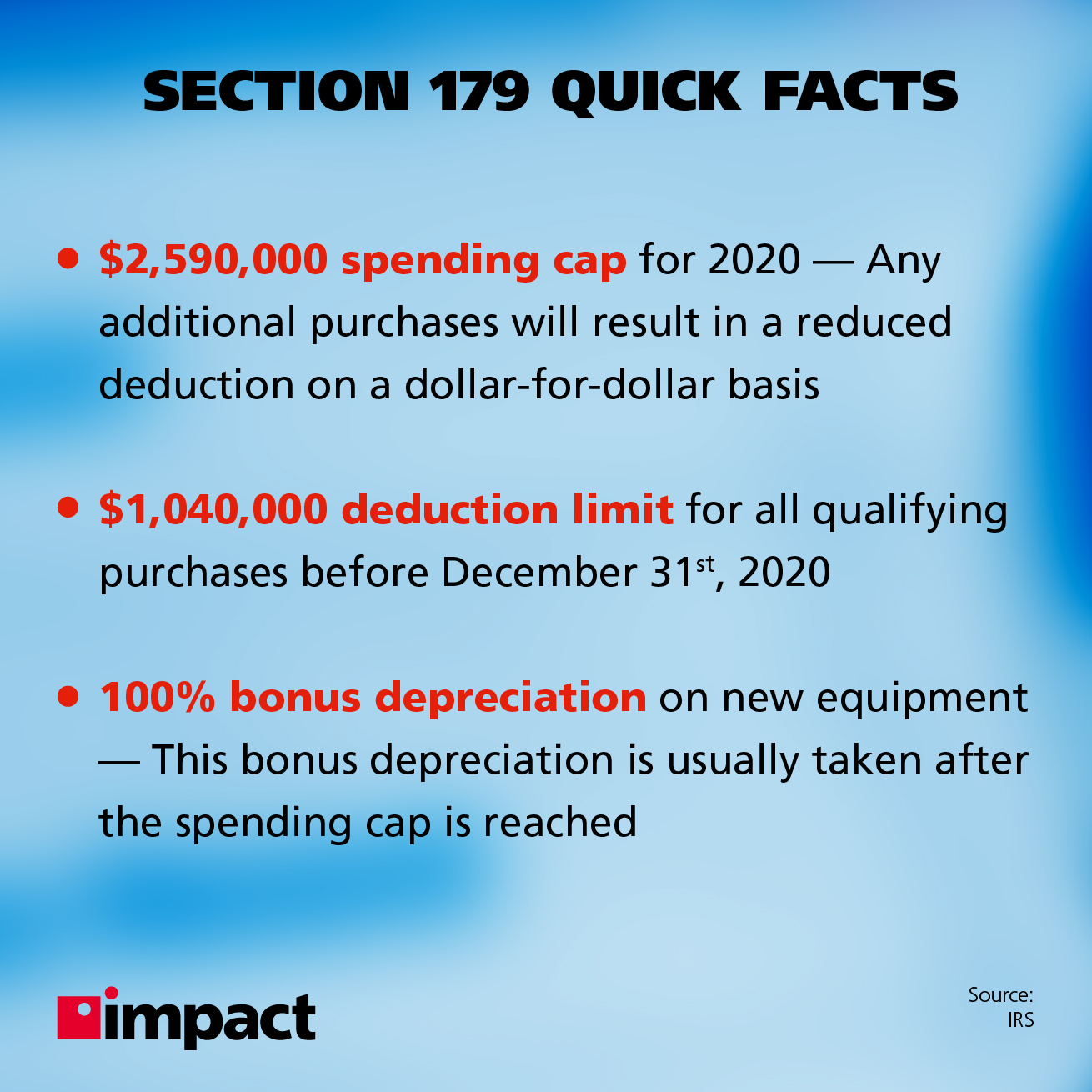 IRS Section 179 quick facts