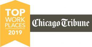 top workplaces logo with chicago tribune logo