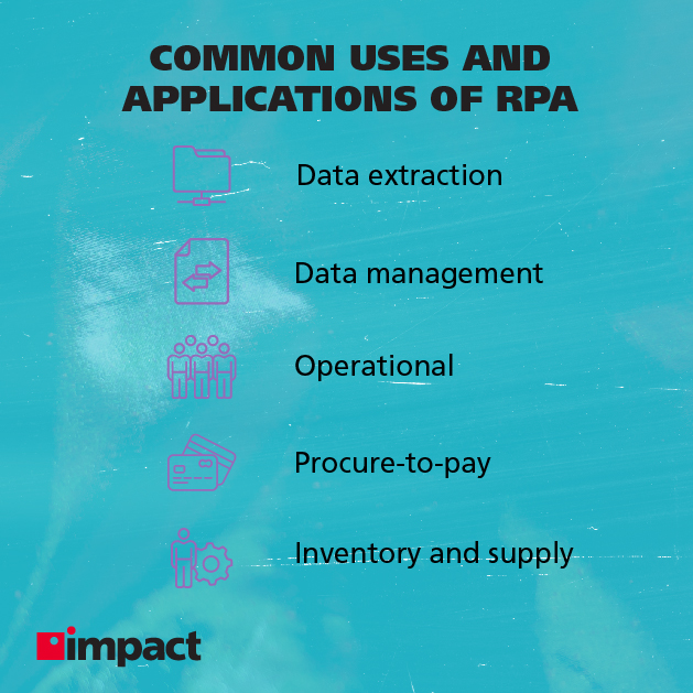 Common uses and applications of RPA