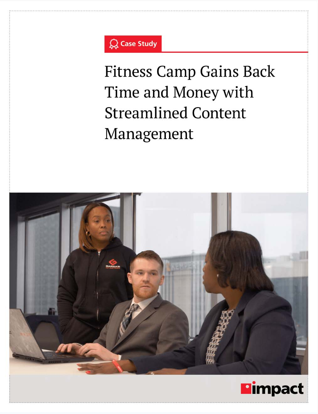 Cover of case study on content management