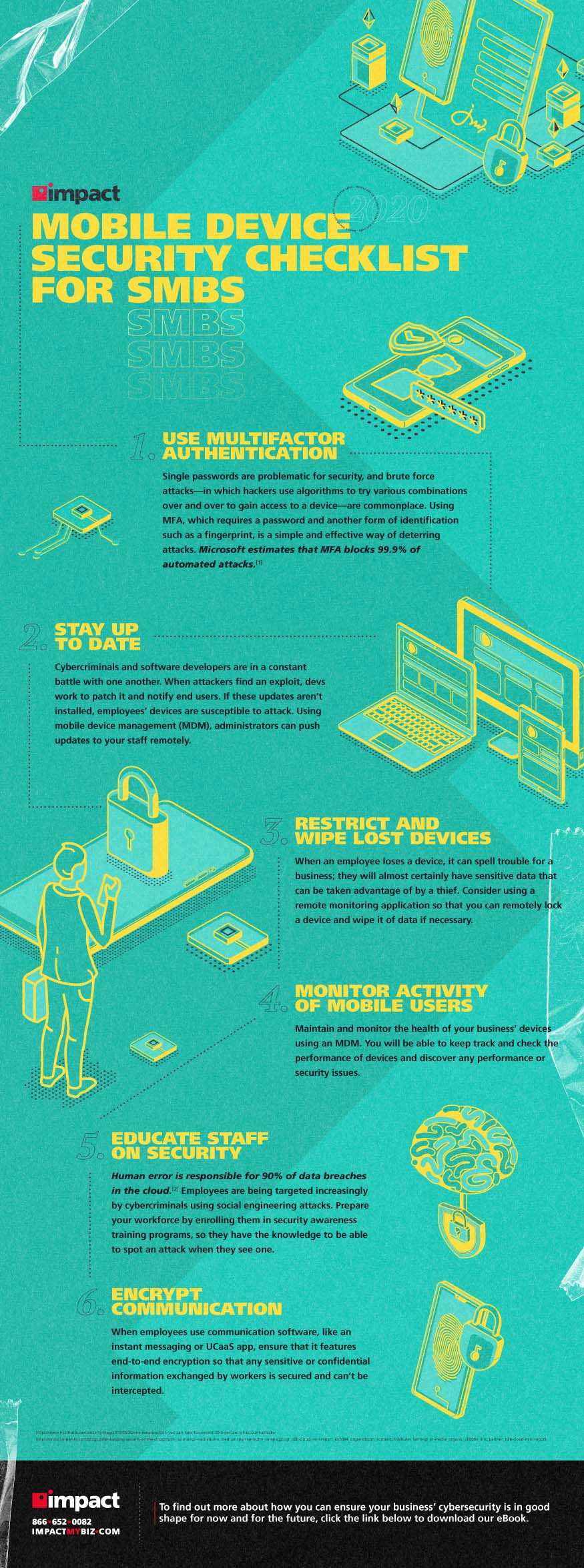 Infographic on mobile device security