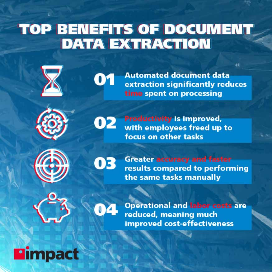The benefits of document data extraction   Advanced technology examples in business