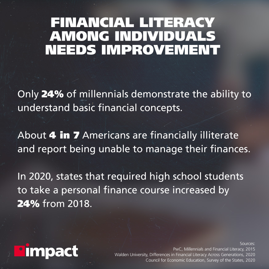 Image of people pointing to graph on notepad | 3 Ways Technology Can Promote Financial Literacy